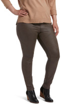 Textured Microsuede Leggings Mulch 2X