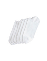 Microfiber Liner 6 Pair Pack White Shoe Sizes 4-10