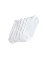 Microfiber Liner 6 Pair Pack White Shoe Sizes 4-10