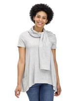 Perfect Protect Short Sleeve Scarf Tee Light Grey Heather S