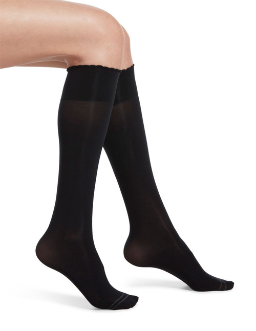Graduated Compression Opaque Knee Hi Black