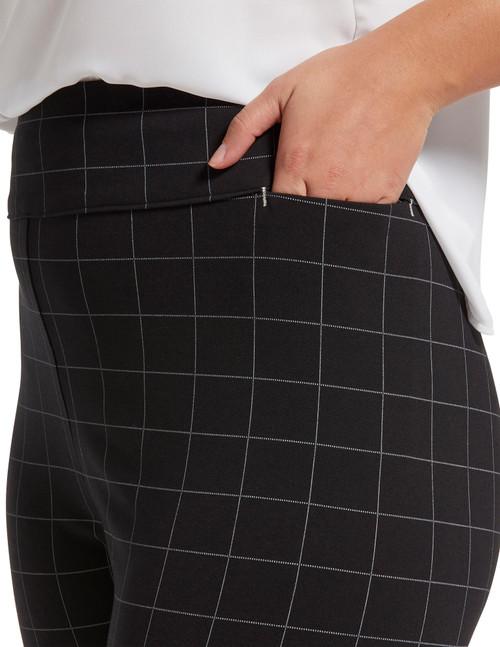 Work Ponte Ultra High Waist 7/8 Straight Leg Whisper White