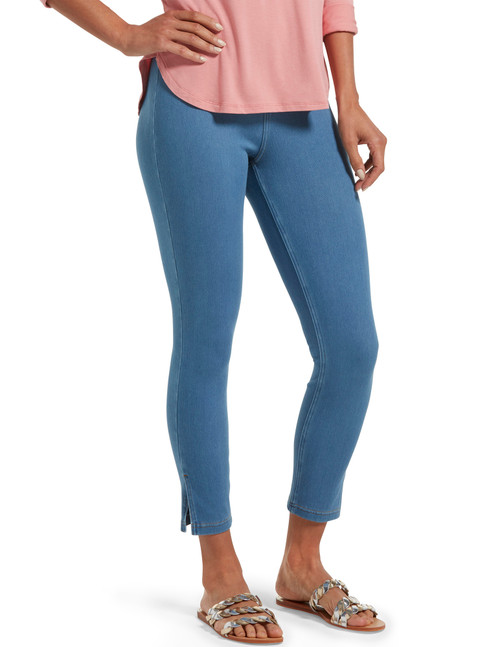Comfort Waistband Ultra Soft Denim High Waist Skimmer Sail Blue Wash