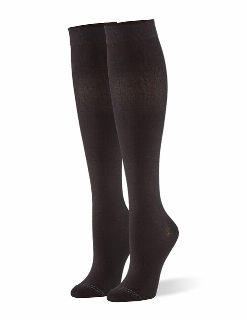 Graduated Compression Knee Sock Black