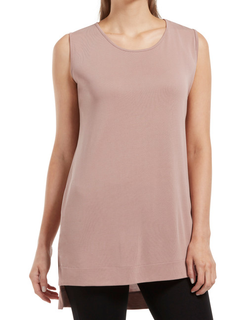 Hi-Low Hem Sleeveless Tunic Titanium