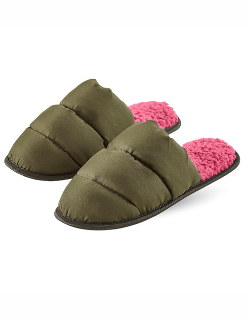 Puffer Slide Slippers Burnt Olive