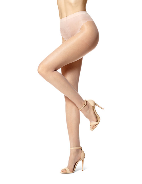 Toeless Control Top Pantyhose Nude Blush