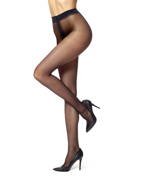 Essentials Solutions Clear Control Top Pantyhose Black