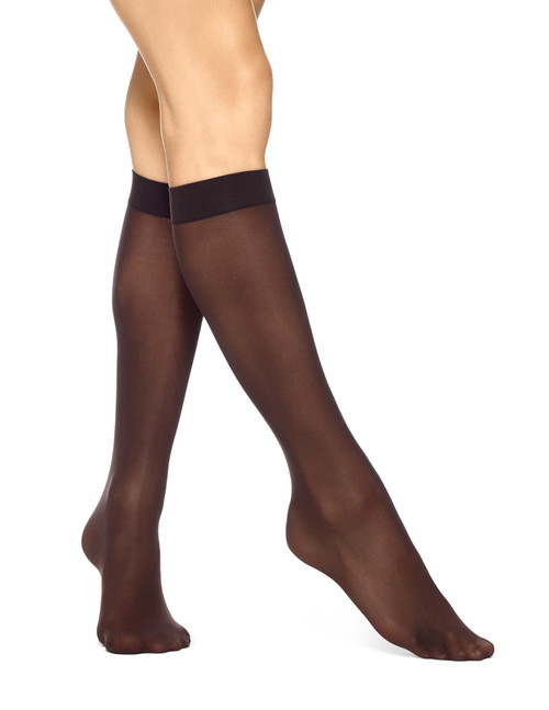 Opaque Knee Hi 4 Pair Pack Espresso