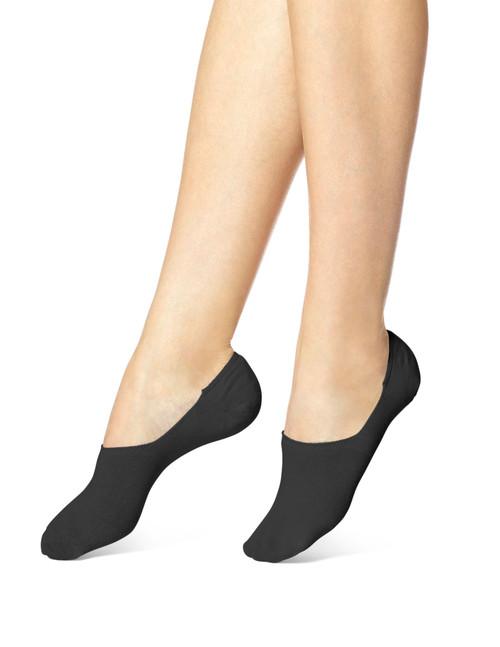 Hi Cut Cotton Sock Liner Black