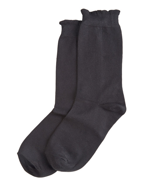 Solid Femme Top Sock Black
