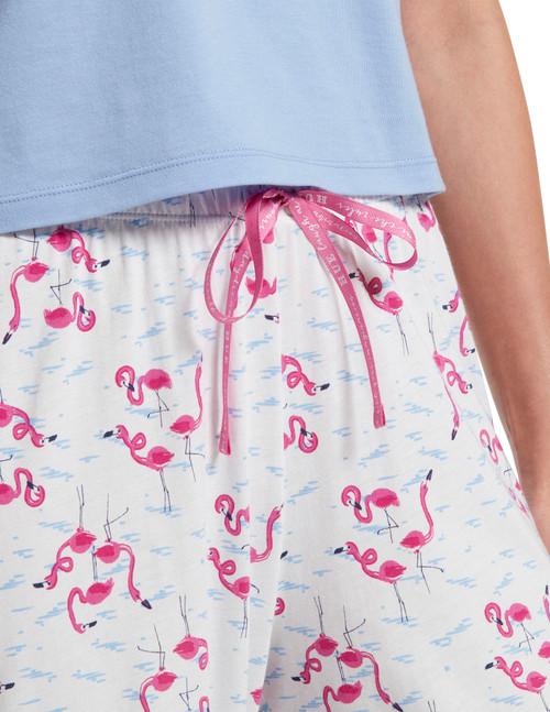 Flamingals Capri Pajama Pant White