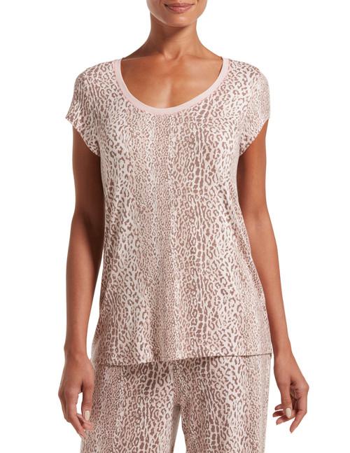 SleepWell Leopard Stripe Short Sleeve T-Shirt Iron