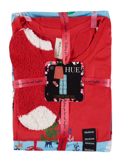 Joy Town Knit PJ Set Ski Patrol