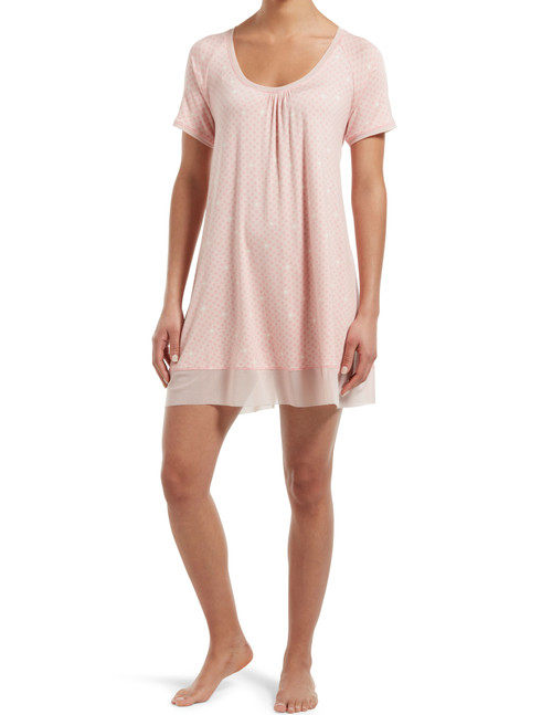 Sleepwell Join The Dots Short Sleeve PJ Gown Calming Rose
