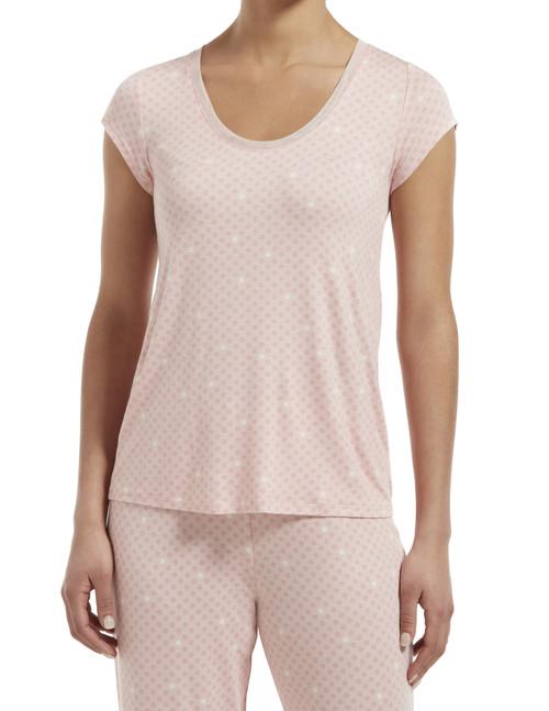 SleepWell Join The Dots Short Sleeve Sleep Tee Calming Rose