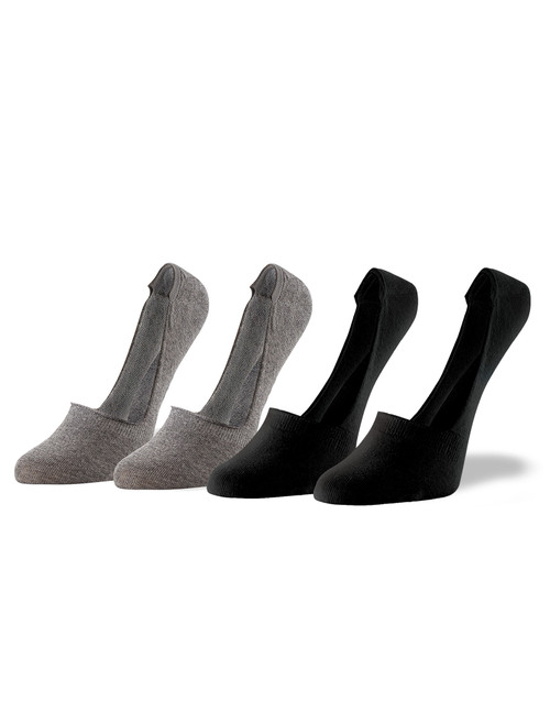 Sneaker Liner 4 Pair Value Pack Charcoal Heather
