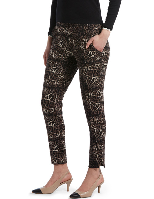 Leopard Ponte 7/8 Leggings Brown