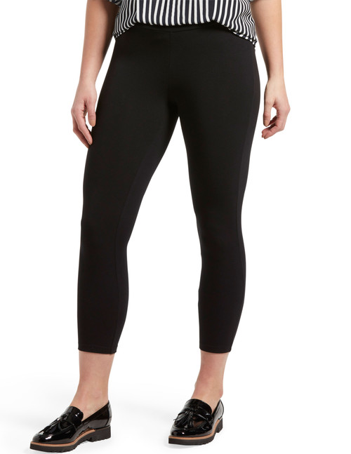 Wide Waistband Blackout Cotton Capri Black