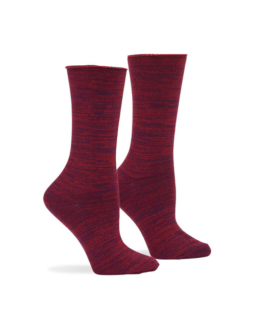 Super Soft Roll Top Boot Sock 2 Pk Deep Burgundy