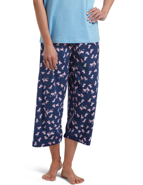 Beach Chair Sleep Capri Pajama Pant