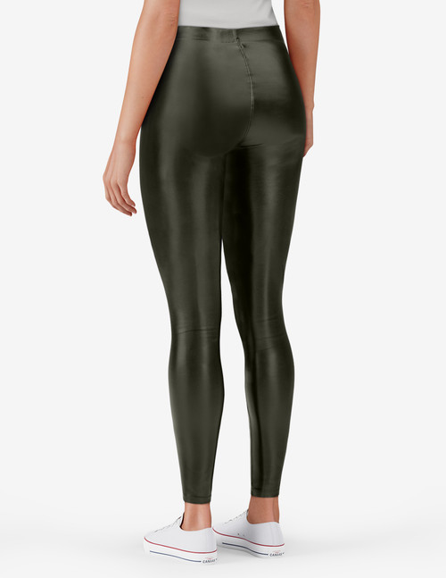 Leatherette High Rise Leggings Black