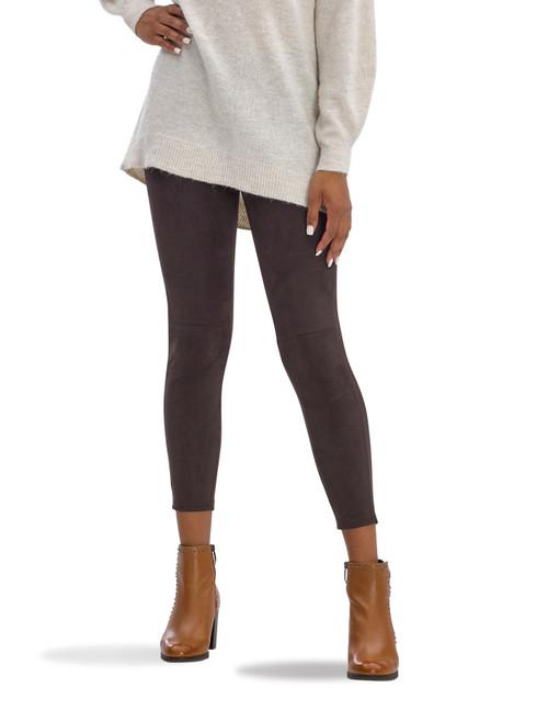 Microsuede Leggings Brown Velvet