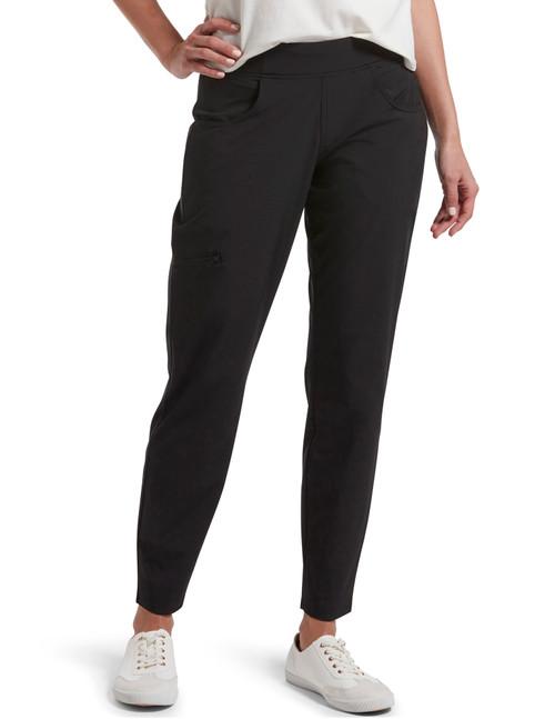 Travel Side Zip Pocket Leggings Black