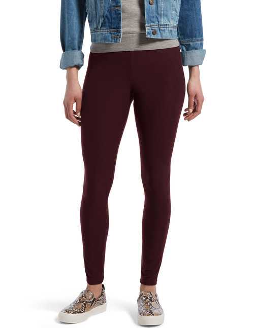 Lightweight Knit Leggings Deep Burgundy