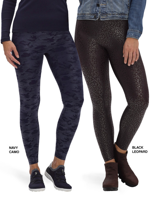 Layering Weightless High Rise Leggings Black Leopard