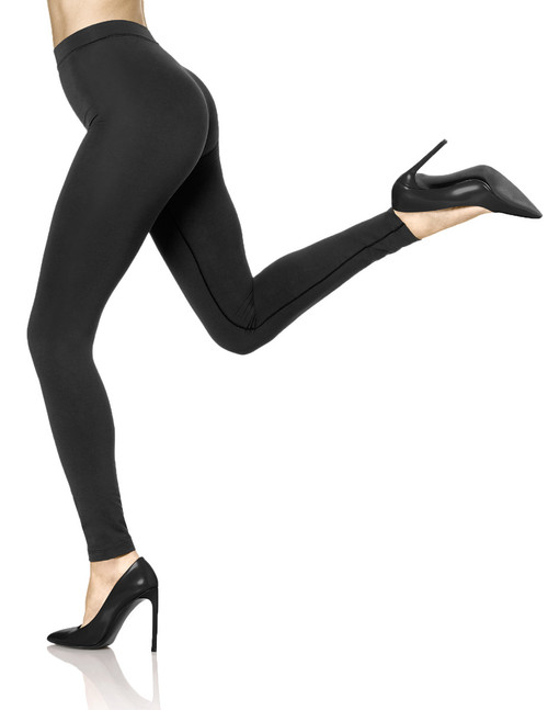 Double Knit Shaping Legging Small Black