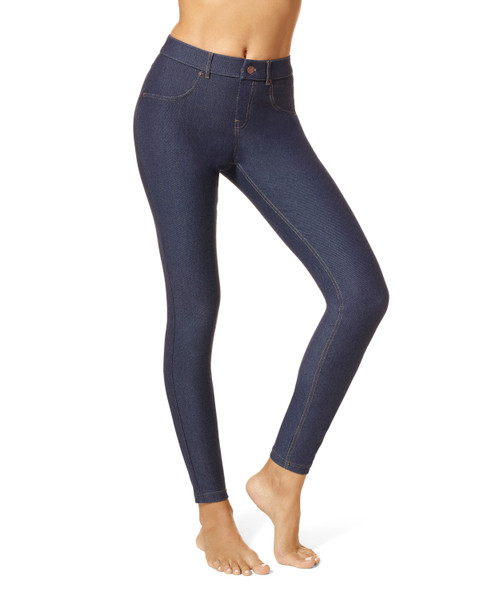 Essential Denim Leggings Deep Indigo Wash