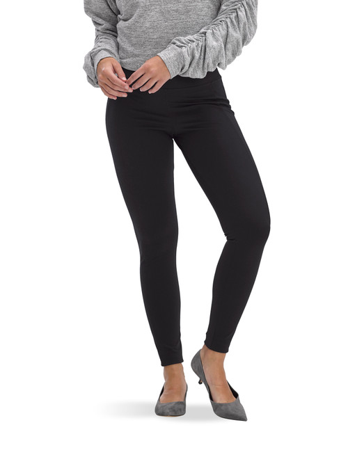 Tummy & Side Control Pique High Rise Leggings Black
