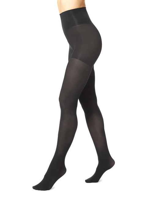 High Waist Tights with Control Top Black