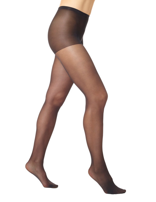 HUE Sheer Tights with Control Top Black