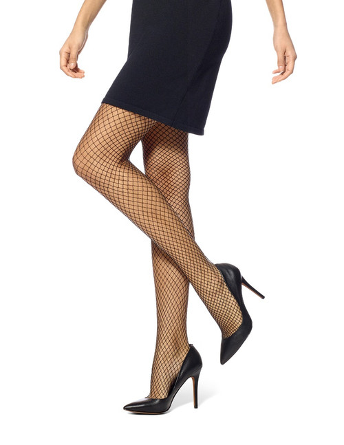 Petite Fishnet Tights Black
