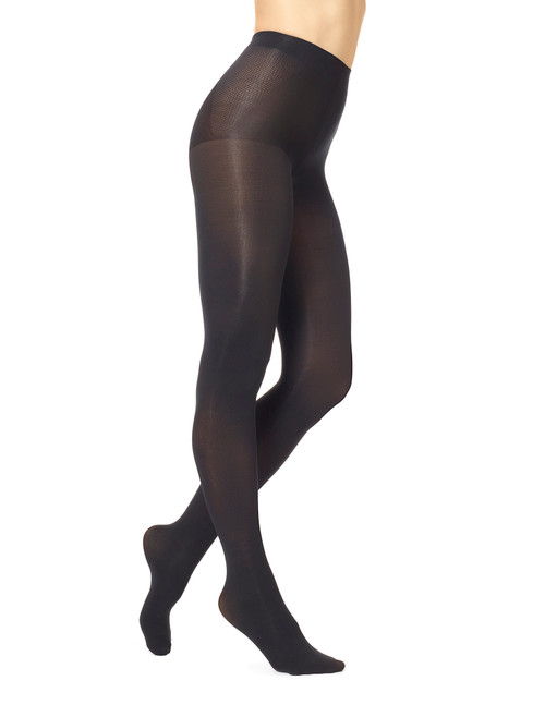 Graduated Compression Opaque Tights Black