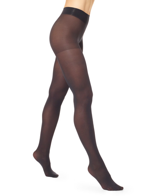Opaque Tights with Control Top Black