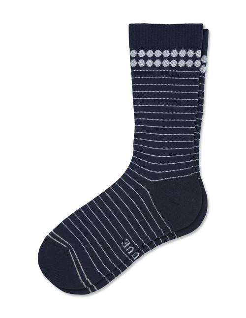 Compression Crew Navy Stripe