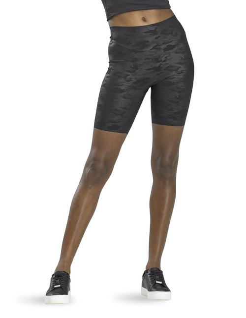 Sleek Effects High Rise Bike Shorts Black Leopard