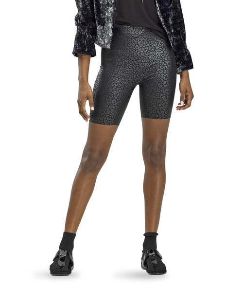 Sleek Effects High Rise Bike Shorts Black Leopard