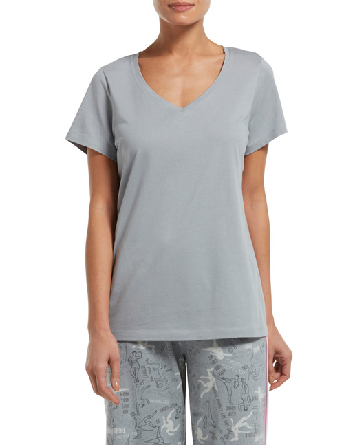 Short Sleeve V-Neck Sleep Tee Sleet