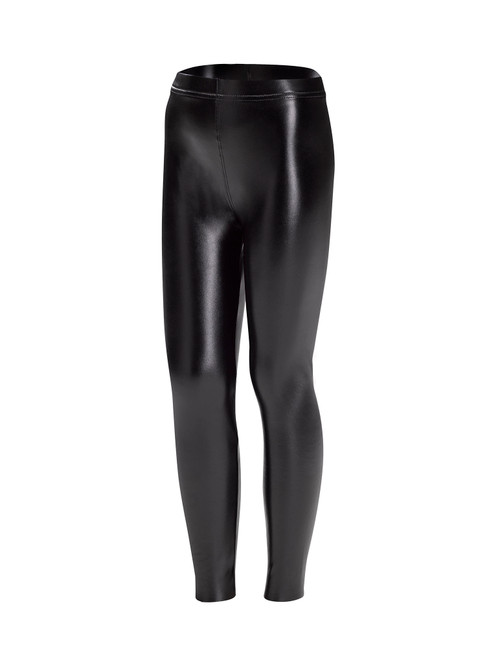 Sleek Effects Leatherette Girl's High Rise Leggings