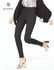 High Waist Black Out Ponte Legging Black Small