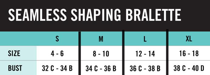 Hue Bralette Size Chart