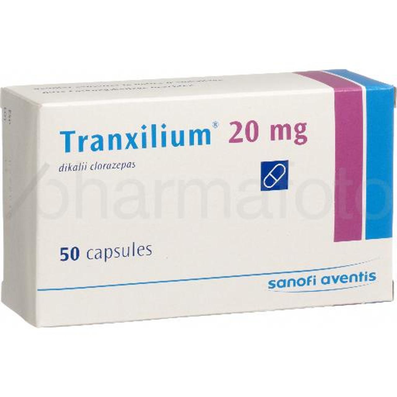 Tranxilium Caps 20 Mg 50 Pce Pharmafoto