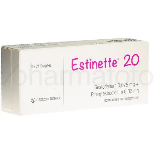 ESTINETTE 20 drag 3 x 21 pce