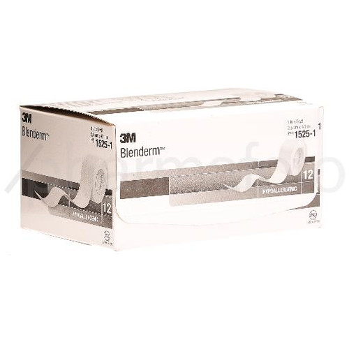 3M Blenderm Sparadrap 25mmx4.57m occlusif 12 pce