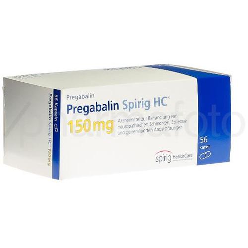Pregabaline Spirig HC caps 150 mg 56 pce