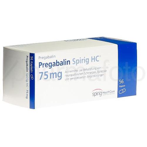 PREGABALINE Spirig HC caps 75 mg (anc) 56 pce